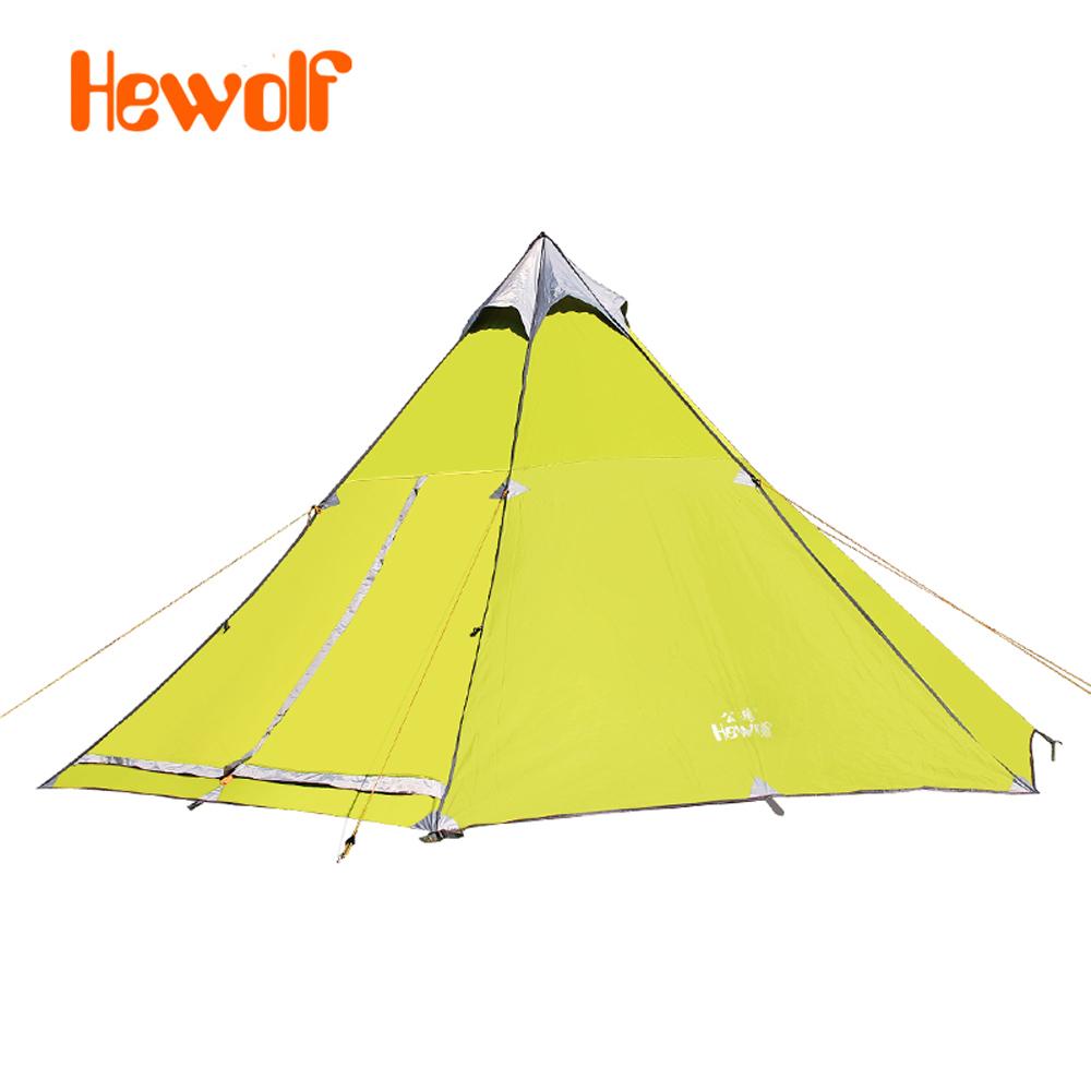 Hewolf yurt tents outside civil air defense 6-8 aluminum alloy safe rain tent camping 1658(China (Mainland))