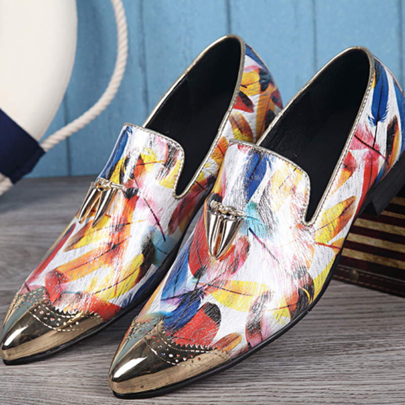 2016 Hot Sale Mens Fashion Print Casual Shoes Comfortable Summer Loafers Shoes Plus Size 38-46<br><br>Aliexpress