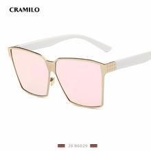 Buy Rita Fashion Oversized Sunglasses Metal Frame Square Brand Designer JS86029 Women Mirror Sun glasses Men UV400 Big Frame Shades for $10.49 in AliExpress store