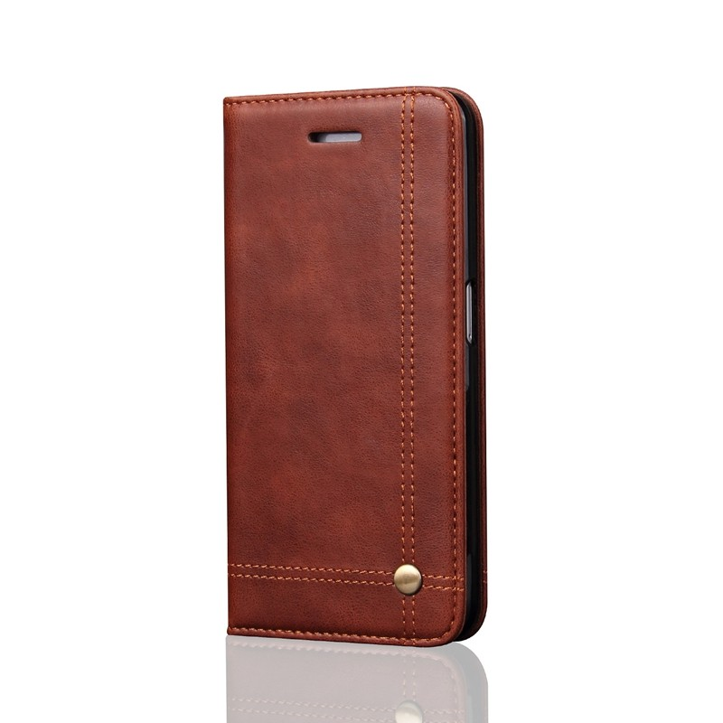 Leather Flip Wallet Leather Case for iPhone 5s 5 SE 6 6s 7 Plus Luxury PU Leather Business Phone Cover Cases Bags