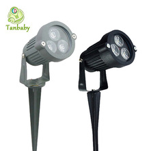 Tanbaby étanche la lumière de jardin led 3 W AC85-265V IP65 extérieur led éclairage led pelouse éclairage spotlight paysage(China (Mainland))