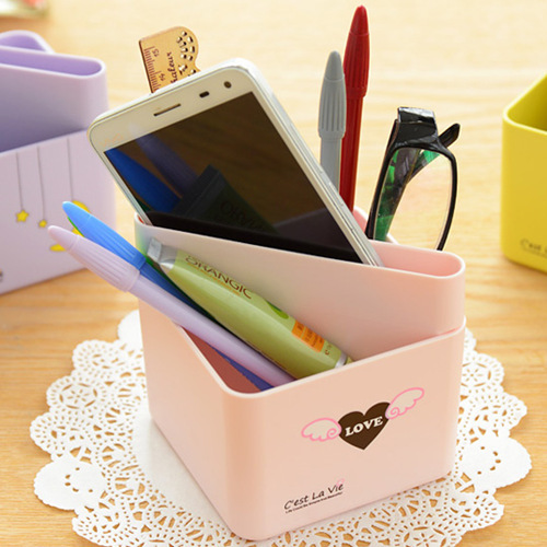 Stationery sortable holder Candy Love pencil pen holder desk organizer de escritorio office accessories School material 6720(China (Mainland))
