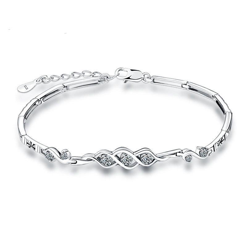 Christmas Gift AAA 100% Sterling Silver 925 Jewelry Bracelets &amp; Bangles Super Flash Bracelet  Free Shipping<br><br>Aliexpress