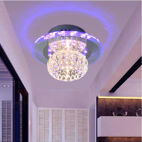 3w crystal ceiling lamp bedroom corridor hallway lights