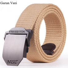 "Buy 2017 New Arrival Men's Canvas Belt ""NO5"" Buckle Military Belt Army Tactical Belts Male Top Men Strap Free for $6.74 in AliExpress store"