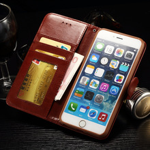 2016 New Retro PU+TPU Luxury leather Wallet Card flip open cover pocket for iPhone6 6s 6Plus Case with Stand Free shipping