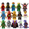 15Pcs lot Ninjagoe Super Hero Yang Gereral Kozu Echo Zane Pythor Giant Stone Kai figures Compatible