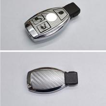 For Mercedes Benz C Class C200L E Class E200 Car Key Sticker Carbon Fiber Sticker 2Pcs Per Set(China (Mainland))