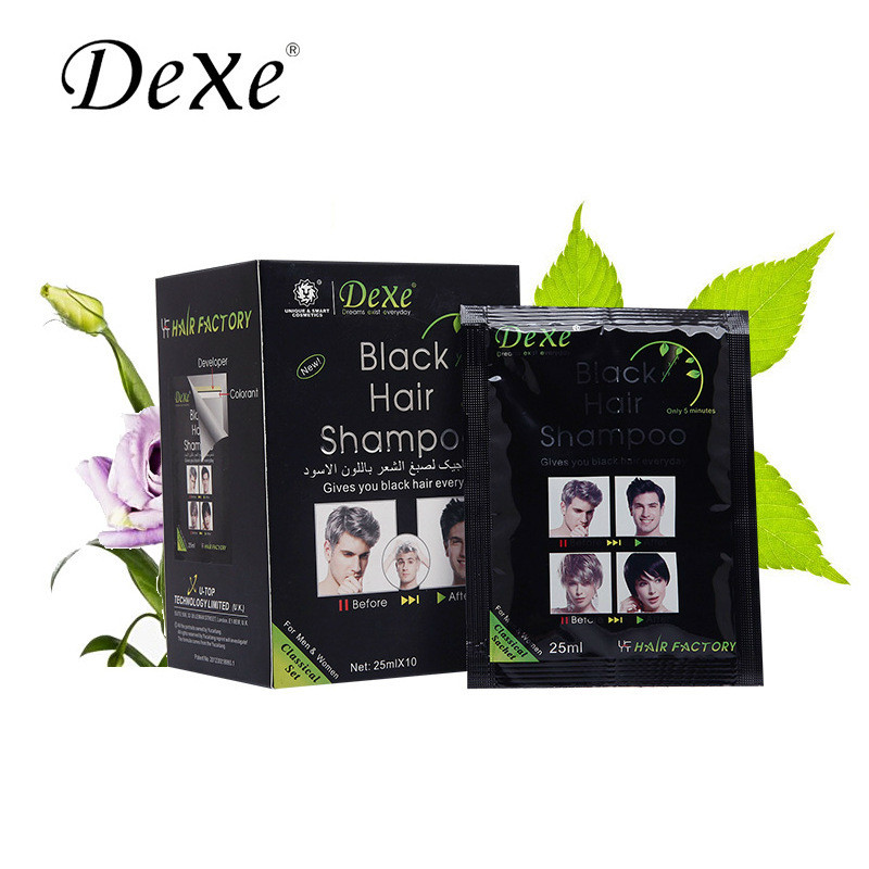 A washing black hair dye Natural pure black cover plant natural black hair shampoo hair cream Hair color S060(China (Mainland))