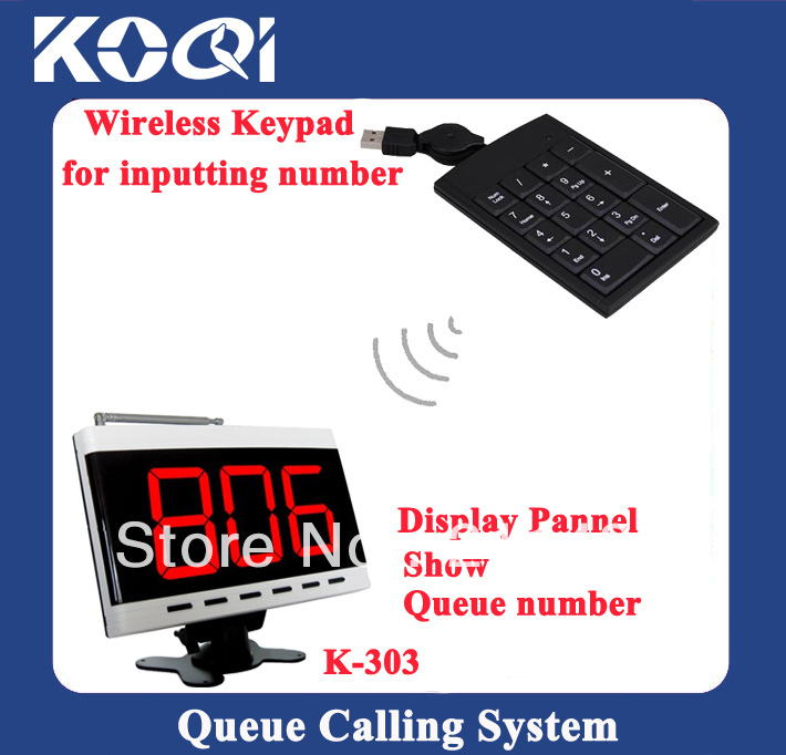 Queue waiting system for fast food restaurant waiters call guests to pick up orders when it is ready DHL free shipping free(China (Mainland))