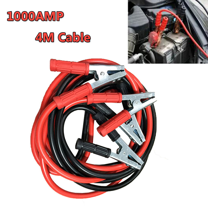 New 1000A Car Starting Jumper Cable Emergency Battery Booster Cables Jumpers Wire 4m for Universal Automobile Vehicle(China (Mainland))