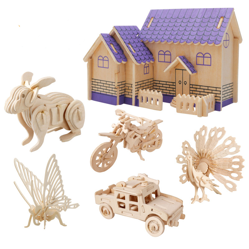 Children's toys 3D three-dimensional model of early childhood educational toys wooden jigsaw puzzle manufacturers selling(China (Mainland))