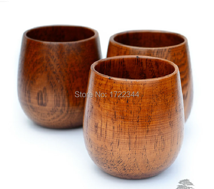 Natural wooden cup tea coffee Drinkware Cups Saucers hotel home office Wineglass craft diy handmade  -  Dolami Household store