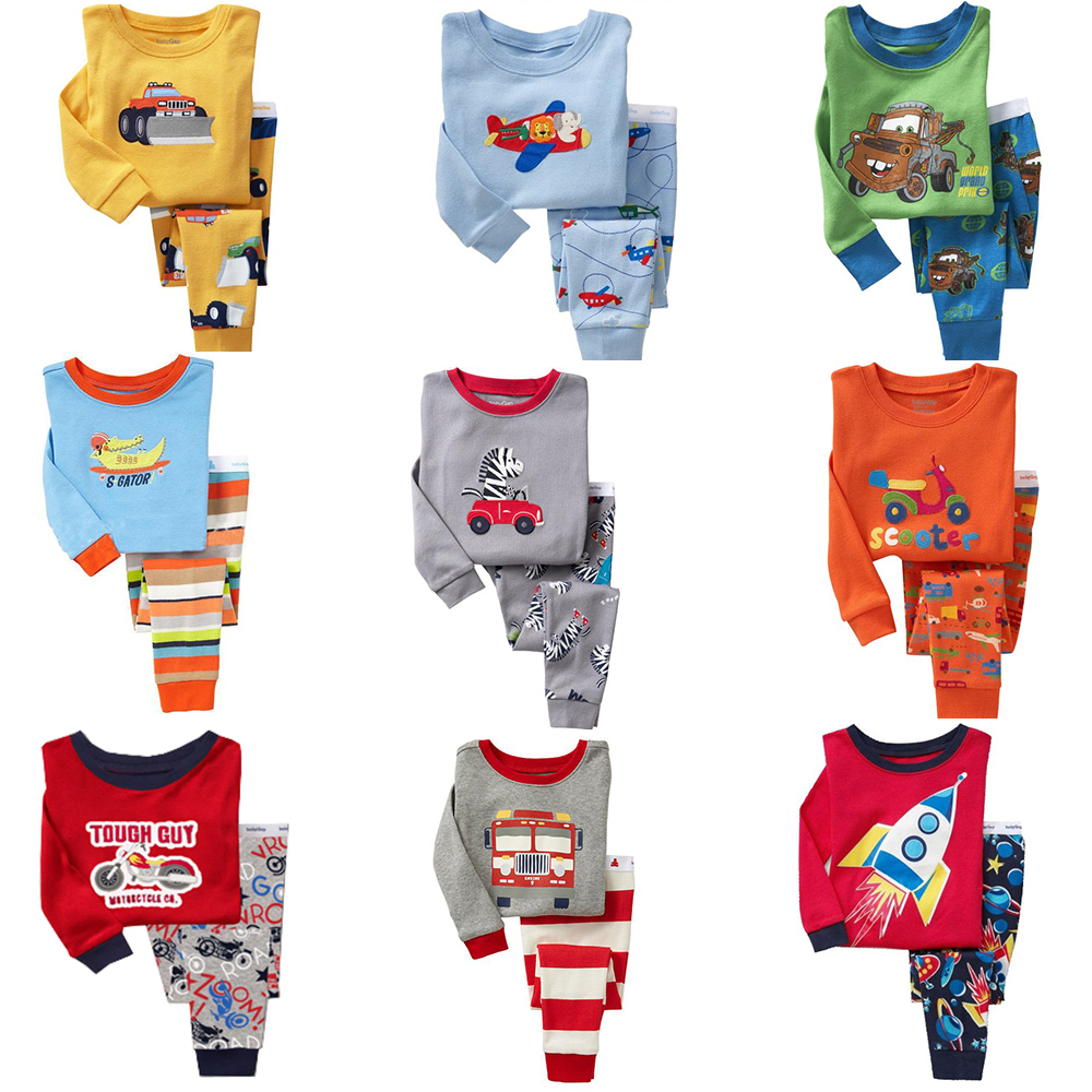 2015 Spring Autumn Kids Clothes Baby Boys Girls Clothing Long Sleeve Costume Cotton Pijamas Childrens Sleepwear Pyjamas Pajamas(China (Mainland))