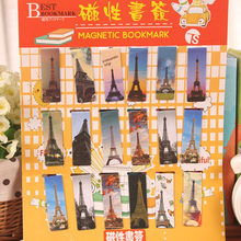 Free shipping secret garden cute stationery cartoon magnetic bookmark clip 18 Bookmarks magnetic cartoon book mark(China (Mainland))