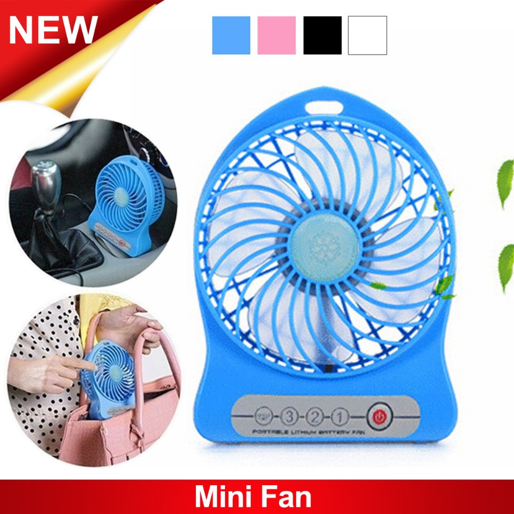 New Arrival Mini USB Rechargeable Battery Fan Portable Handheld Cooling Table Desk Fan Mini USB Ventilation Fan + 4 Colors(China (Mainland))