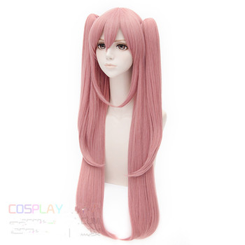 [[Seraph of the End] Krul Tepes 100cm Long Straight Pink Cosplay Wig