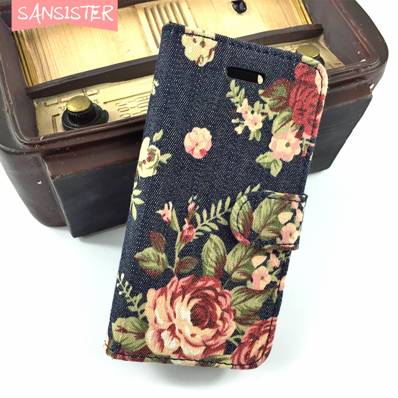 Demin flower rose case for iphone 6 5c 5s 4s cheapest case wanna rose gold red