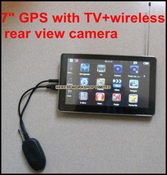 gps tv digital 7inch GPS 4GB maps bluetooth navigation ISDB-T TV for brazil Japan Chile Argentina Peru+wireless rear view camera