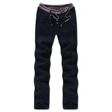 Hot sale men flax linen pants casual beach stretch Elastic Outdoor Jogging fashion Trousers Men's Clothing #FL687
