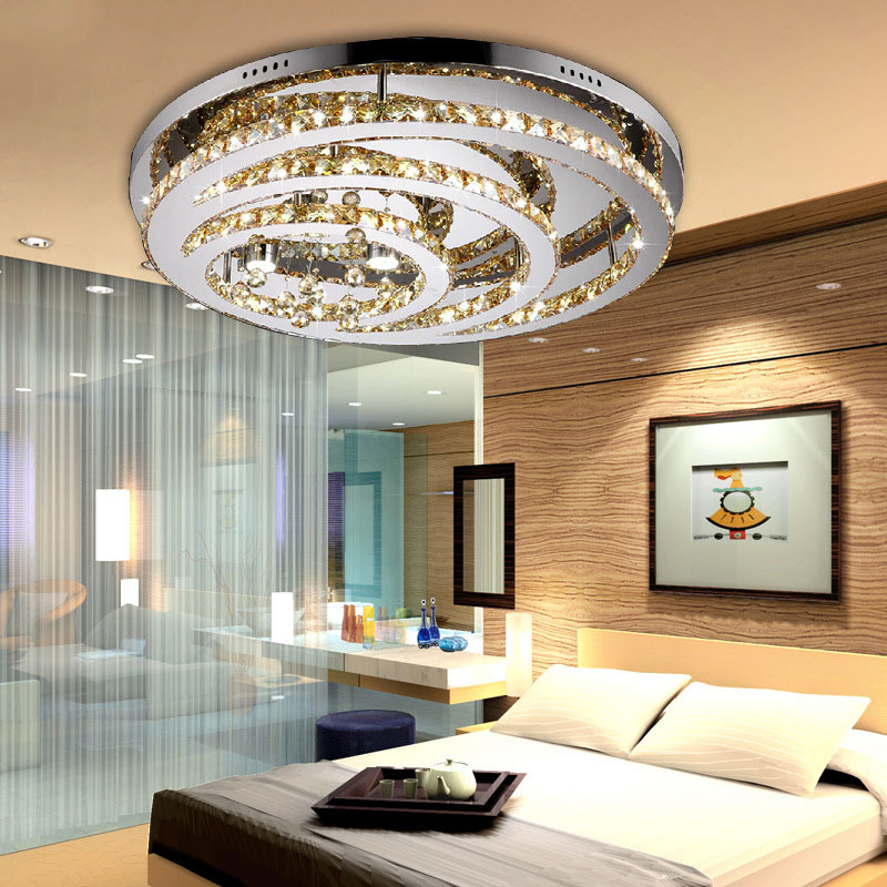 ceiling lamp led crystal ceiling light ac90 260v foyer dining room