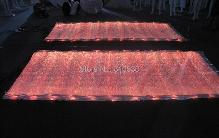 waterproof party decoation Textiles wedding tableecloths led event textile luminous materia RGB lights fabric(China (Mainland))