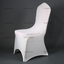 warehouse in Germany shipping free 100pcs good quality white Spandex Chair Covers for wedding decoration event party(China (Mainland))