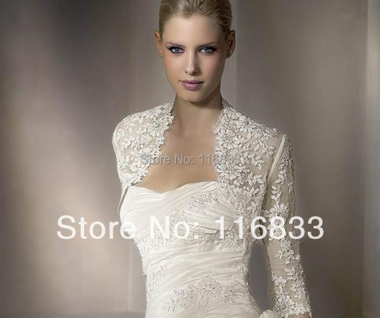 Fashionable Applique Lace wedding Bolero Half Sleeve Wedding Jacket Custom-Made Wedding Accessories(China (Mainland))