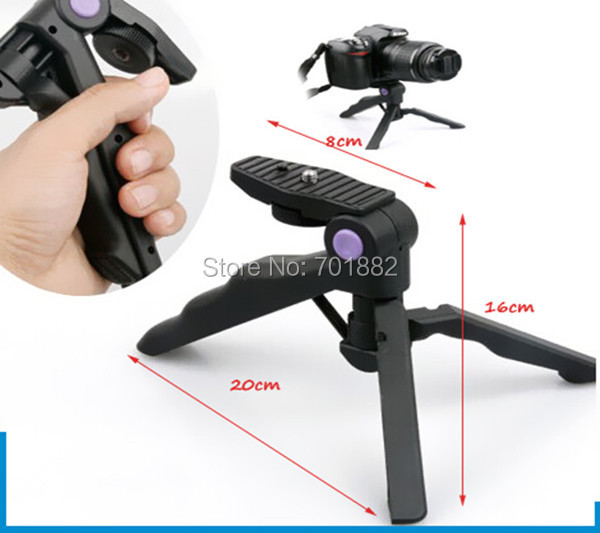 Tripods Table Mini Portable Folding Tripod Stand Handheld Grip for DC DSLR SLR Camera(China (Mainland))