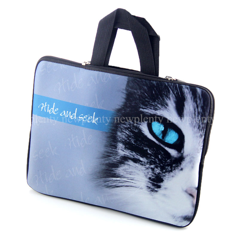 """Cat Face 10"""" Colorful Laptop Carrying Bag Case Soft Sleeve For 9.7"""" 10.1"""" 10.2"""" HP Dell Acer Samsung Asus Laptop Tablet(China (Mainland))"""