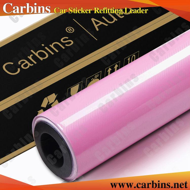 Hot sale Pink carbon fiber vinyl 5D car sticker 60''*65.6ft film roll customer cutting vinyl(China (Mainland))