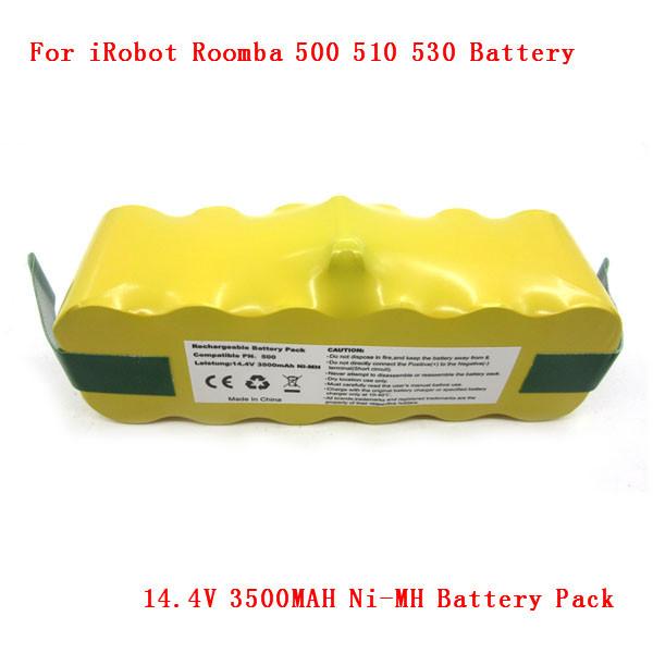 14.4V 3500MAH Battery Pack for iRobot Roomba 560 530 510 562 550 570 500 581 610 780 532 770 760 Series Free shipping(China (Mainland))