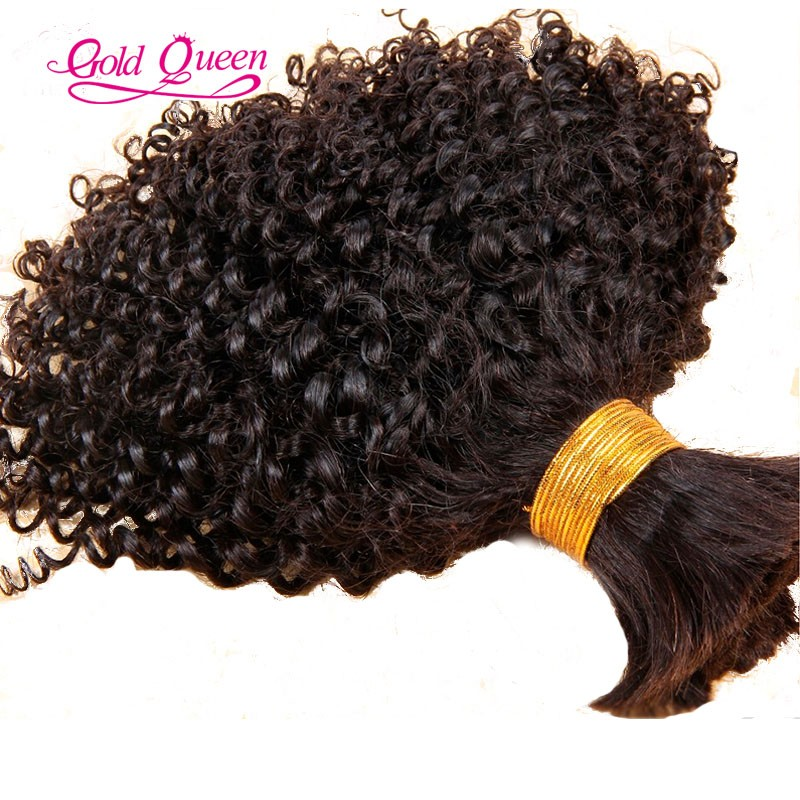 Hot mongolian kinky curly hair human braiding hair bulk 8-26inch 100g/pcs bulk human hair extensions 1pcs/set human hair bulk