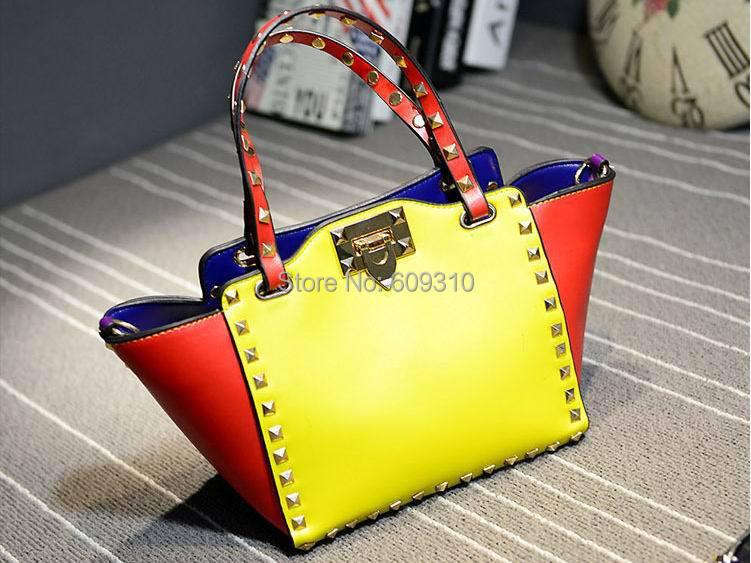 2015 New Fashion Punk Style Women's Bags Rivet Handbags Shoulder Messenger Envelope Clutches Purse - Cissy Store store