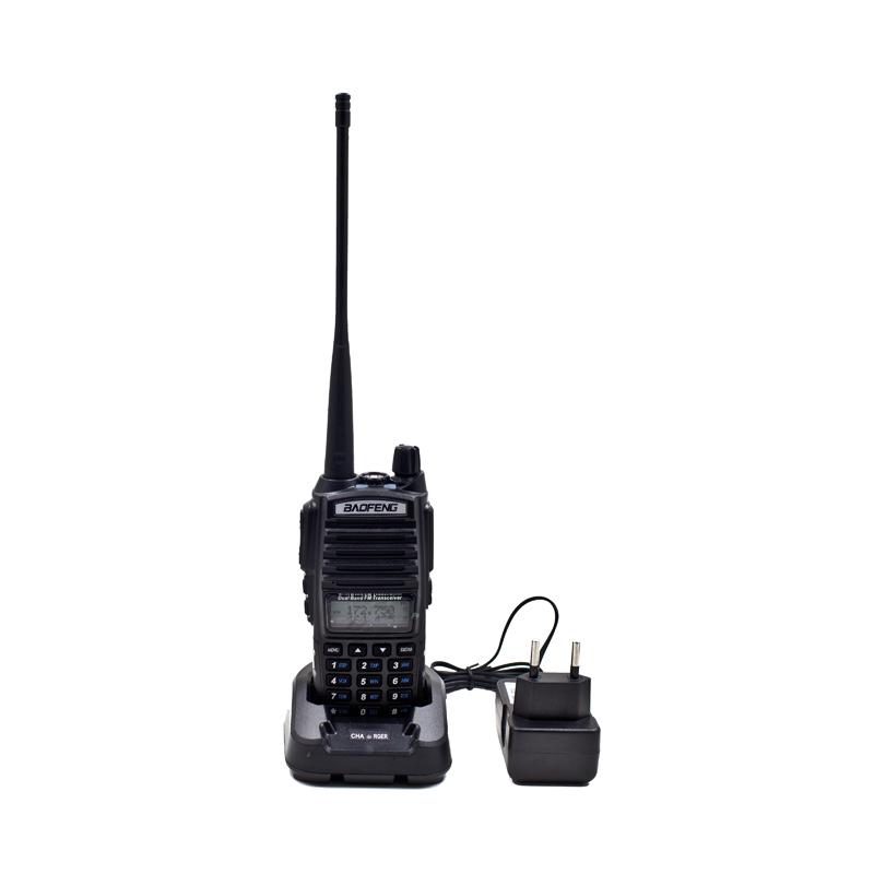 Portable Radio Walkie Talkie Baofeng UV-82 With Double PTT Earphone Button CB Ham Radio Vhf Uhf Dual Band Baofeng UV 82 UV82(China (Mainland))