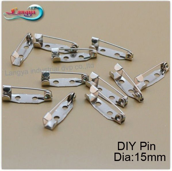 LY11951,15mm DIY pin,CPAM free shipping, brooches accessories, contact pin, pin of brooch jewelry, DIY accessories, 200pcs/lot