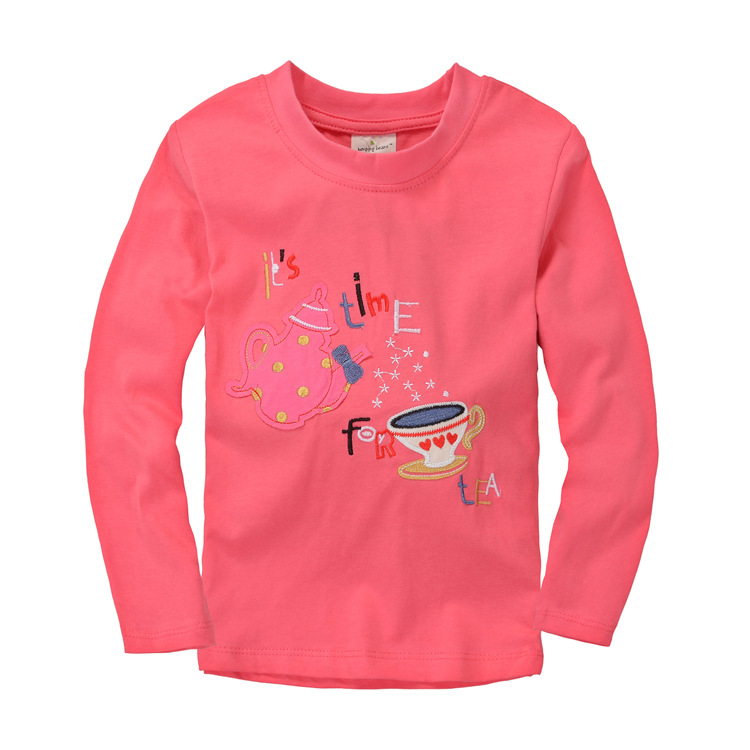 Wholesale child girls t shirt rosy autumn t shirts for for Kids t shirts in bulk