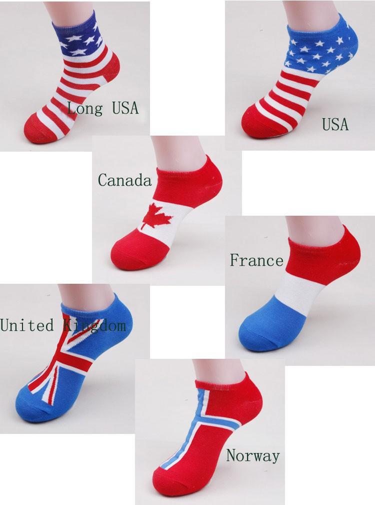 2016 New Fashion British Style World Cup Soccer US Male Football Sports Cotton Socks Couples National Flag Sock Unisex Women Men(China (Mainland))