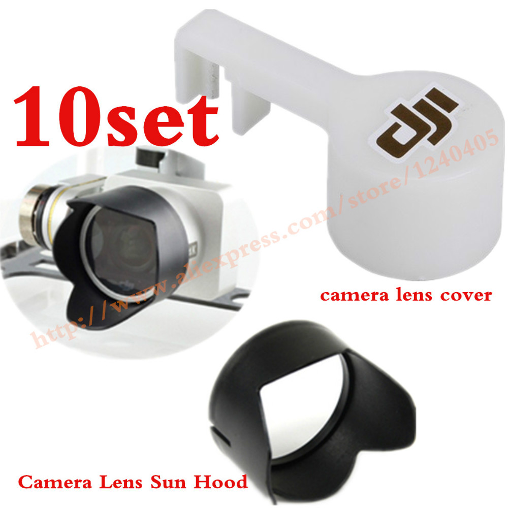 10 مجموعة متقدمة عدسة الكاميرا كاب حامي مع gimbal مستقر قفل و كاميرا عدسة هود مظلة لل dji فانتوم 3(China (Mainland))