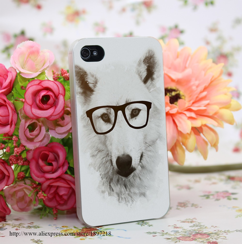 1387771Y Smart Wolf Hard Transparent Cover Case for iphone 4 4s 5 5s 6 6s Clear Cell Phone Cases(China (Mainland))