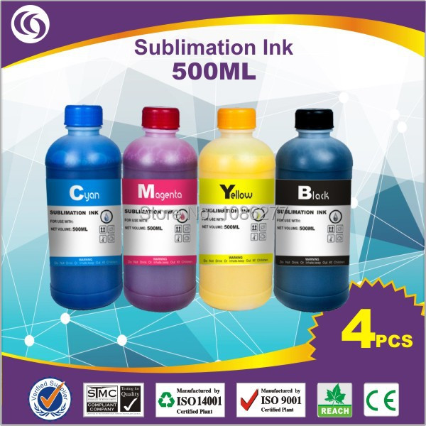 500ml*4 colour customization of mugs ink  transfer ink sublimation ink bk/c/m/y fast shipping factory direct price A+ quality<br><br>Aliexpress