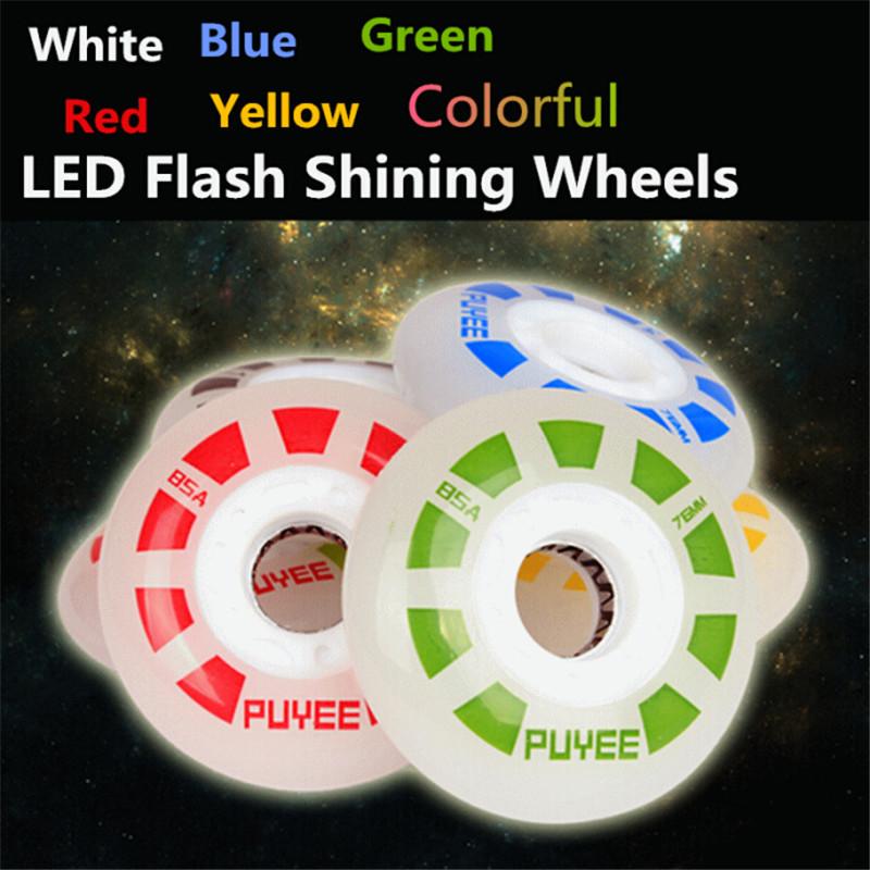 Original PUYEE LED Flash Shining Inline Skates Drift Slide Skating Wheel, for SEBA PowerSlide Rollerblade Roller Skate Patins<br><br>Aliexpress