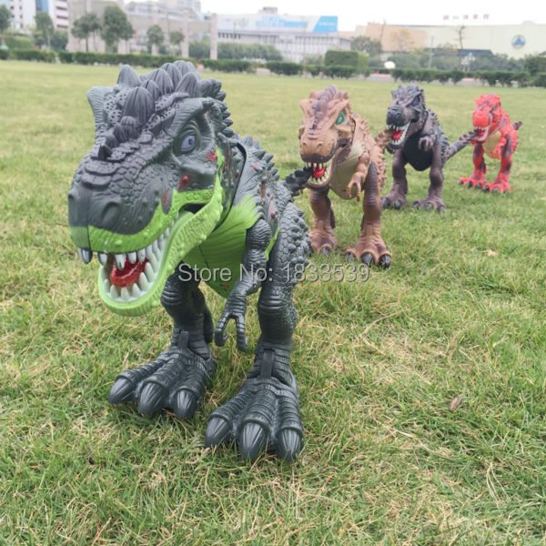 Jurassic World Electric Dinosaur ,Walk Talking Toy Cartoon Animal Model Doll Plastic Interactive Toys Flashing Electric Dinosaur(China (Mainland))