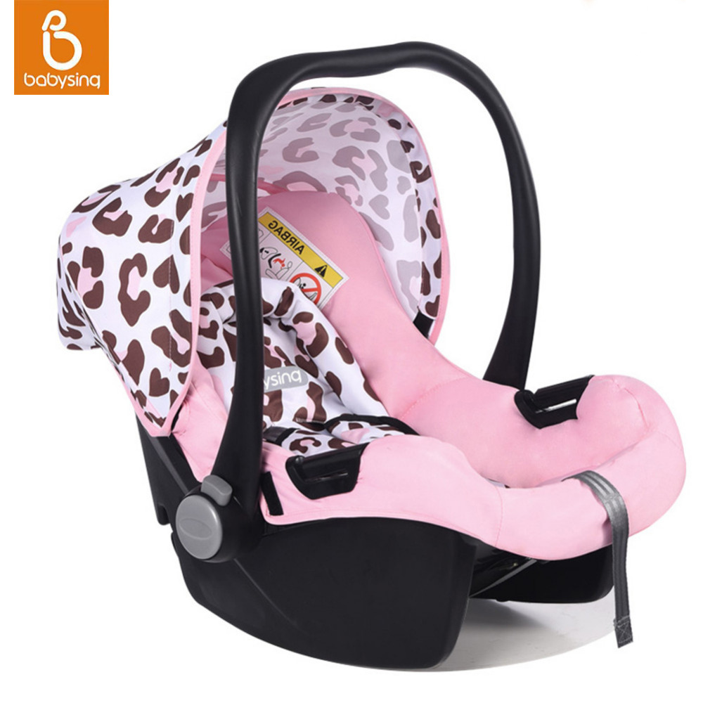 Portable Baby Car Seat 5 Point Harness For Newborn Infant Travel Car Basket Comfortable Rear-facing Installation Safety C(China (Mainland))