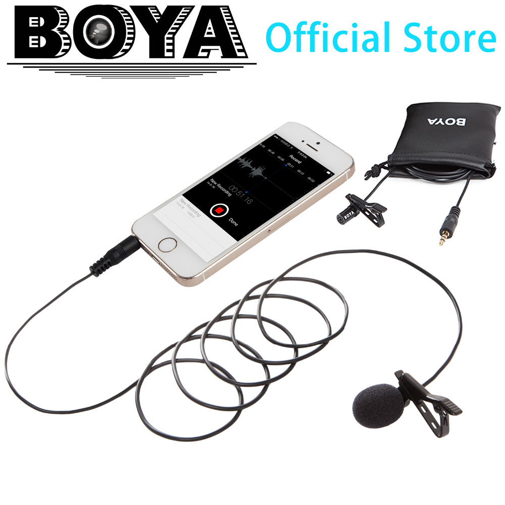 BOYA BY-LM10 Lavalier Condenser Microphone Mic for iPad Mini Air Smartphone iPhone 4s/5/5s/6/6 plus Sumsung Note 3 4 Galaxy S5<br><br>Aliexpress