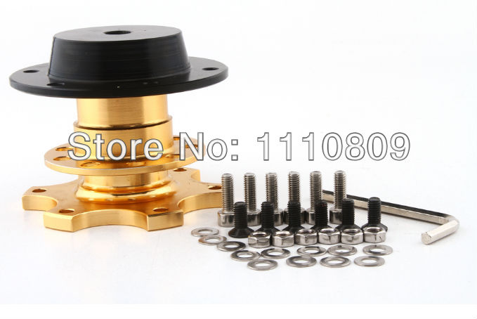 2014 Hot Selling New Steering Quick Release For MOMO/OMP/Sp@rco Steering Wheel(Black,Golden)(China (Mainland))