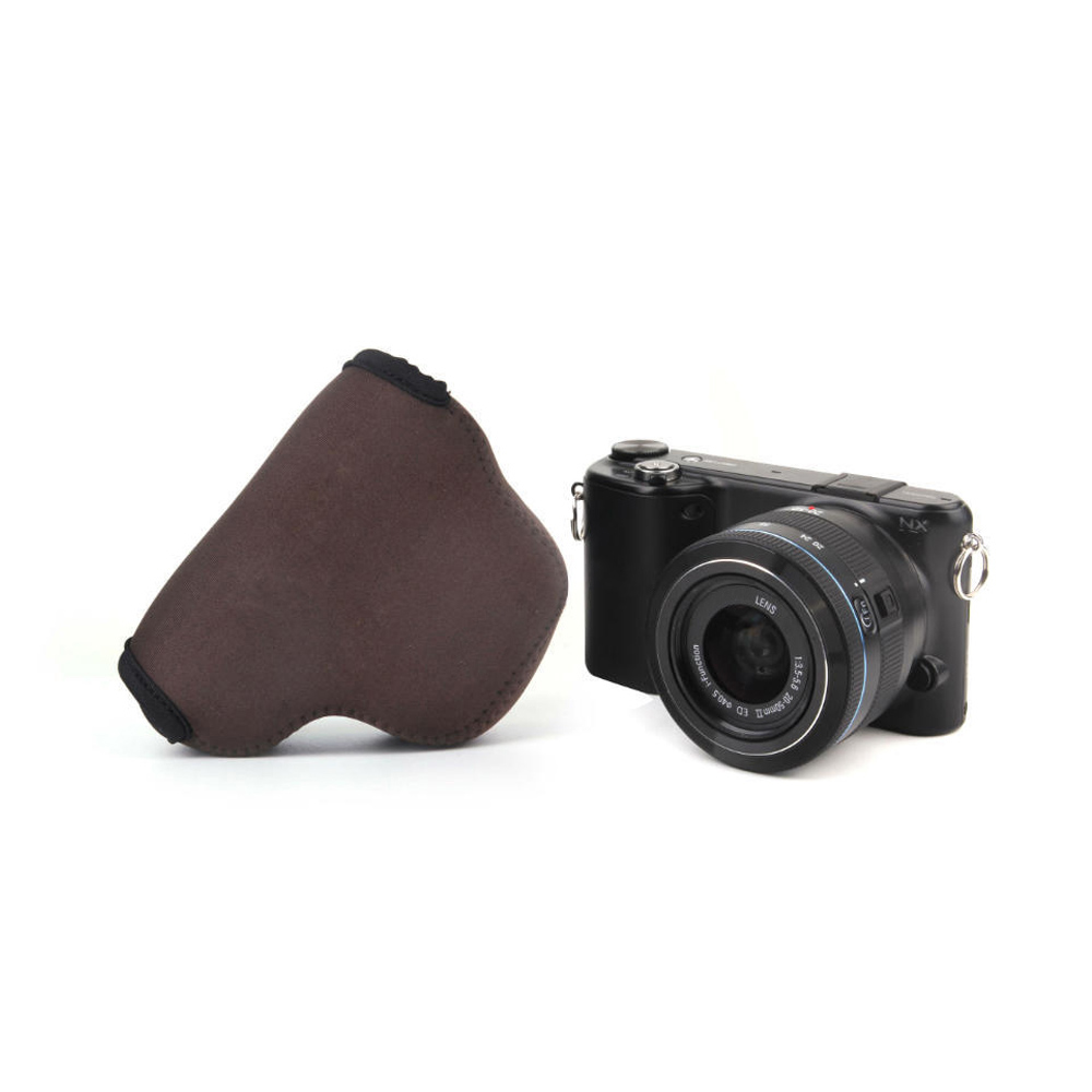 Coffee Portable Neoprene Soft Camera Bag For Samsung NX3000 NX2000 Waterproof Camera Case zippo Bags with Logo Free Shipping(China (Mainland))