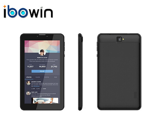 """ibowin 7"""" 3G Tablet1024x600 1G RAM 8G 3G Calling tablet WIFI GPS Bluetooth,7Inch 2G GSM tablet Phone,free shipping,android,M710E(China (Mainland))"""