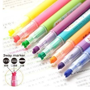 Beetle pen neon pen multicolour pen 3 line