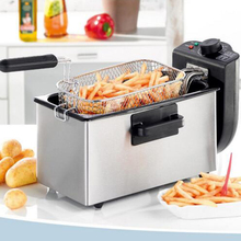 Buy 1pc 3L Single-Cylinder Fryer 2000W Smokeless Stainless Steel Fryer Ccommercial Household Electric Fryer KJ-800 for $79.82 in AliExpress store